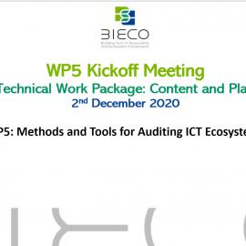 Bieco WP5 – Kick Off meeting
