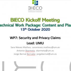 Bieco WP7 – Kick off meeting