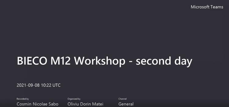 Bieco Internal Workshop – 2nd Day