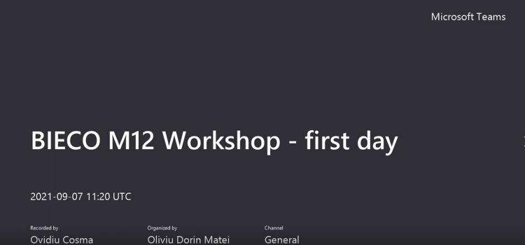 Bieco Internal Workshop – 1st Day
